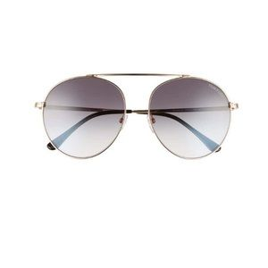 Tom Ford 58mm simone gradient mirrored sunglasses